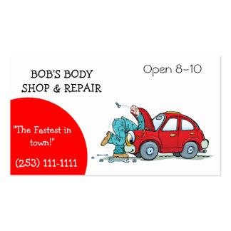 Body Shop et carte de visite de réparation