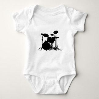 Body Silhouette noire et blanche de kit de tambour -