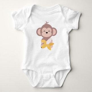 Body Singe mignon de Kawaii avec la combinaison de bébé