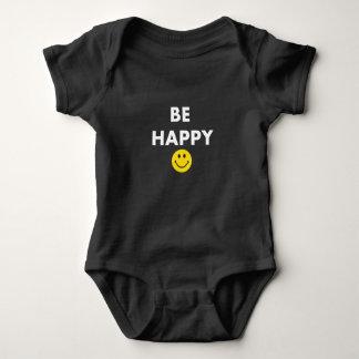 Body Soyez combinaison non misérable heureuse de bébé