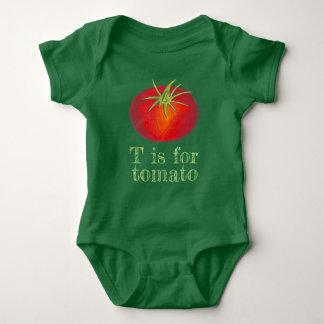 Body T est pour le légume rouge de tomates de tomate