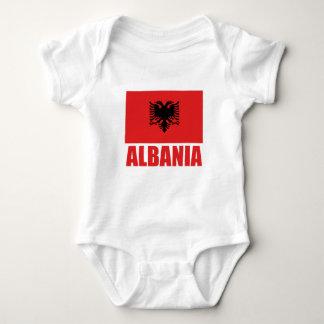 Body Texte de rouge de drapeau de l'Albanie