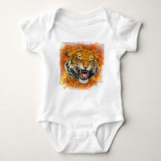 Body tigre en flamme