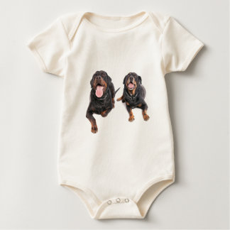 Body two rottweilers,