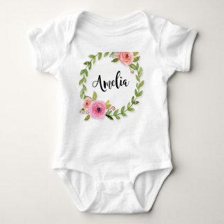 Body Une seule pièce décoré d'un monogramme de bébé