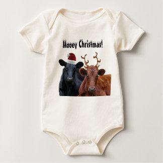 Body Vaches à vacances de Noël dans le casquette et des