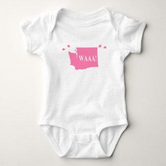 Body WAAA ! rose de combinaison de bébé de Washington