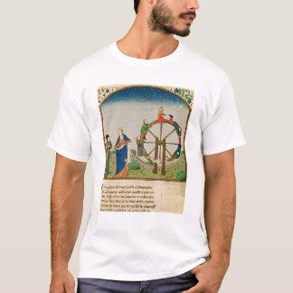 Boethius avec la roue de la fortune t-shirt