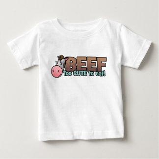 Boeuf : Trop mignon pour manger T-shirt Pour Bébé