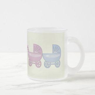 boguet de bébé rose et bleu tasse à café