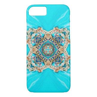 Bohémien bleu d'aqua ethnique gitan hippie de coque iPhone 7
