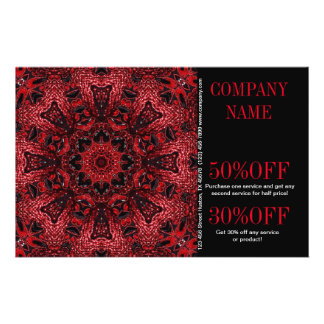 bohémien floral rouge de boutique de mode de SPA Prospectus 14 Cm X 21,6 Cm