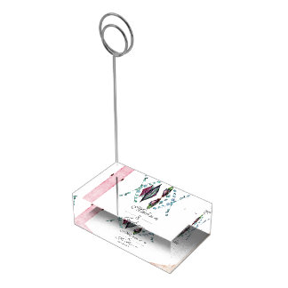Boho Dreamcatcher et monogramme rose de mariage de Porte-cartes De Table