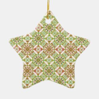 Boho floral stylisé coloré ornement étoile en céramique