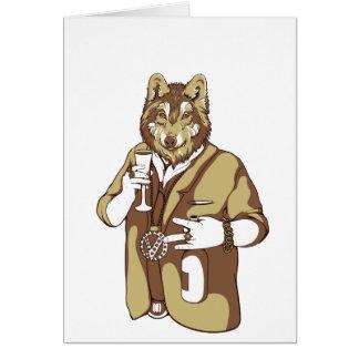 boire approprié humain de chien carte de vœux