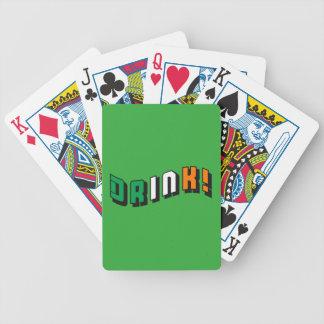 Boire irlandais jeu de cartes