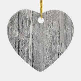 Bois concret ornement cœur en céramique