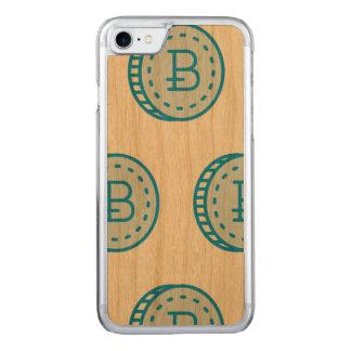 Bois de cerise de cas de Bitcoin (chic) - (bleu Coque En Bois iPhone 7