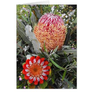 Bois de chauffage et Banksia d'écarlate Carte De Vœux