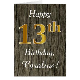 Bois de Faux, anniversaire d'or de Faux 13ème + Carte De Vœux