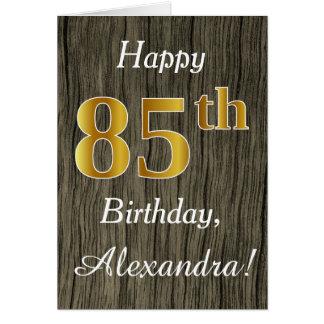Bois de Faux, anniversaire d'or de Faux 85th + Nom Cartes