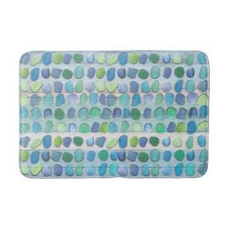 Bois de flottage en verre de plage de mer tapis de bain