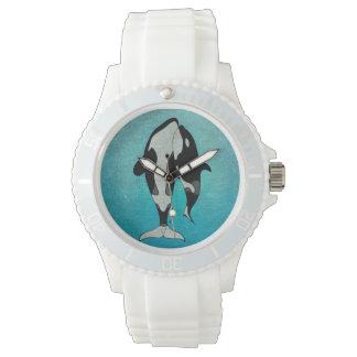 Bois de graveur de bleu d'orque montres bracelet