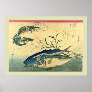 Bois de graveur japonais affiche