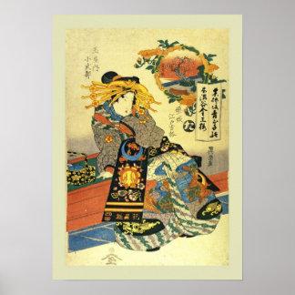 Bois de graveur japonais affiches