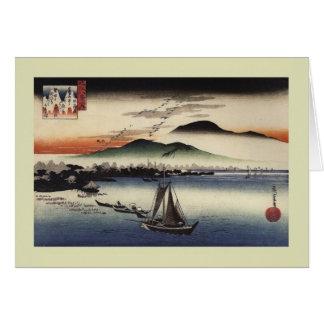 Bois de graveur japonais cartes