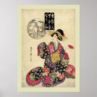 Bois de graveur japonais poster