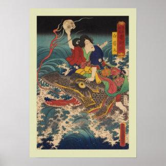 Bois de graveur japonais posters