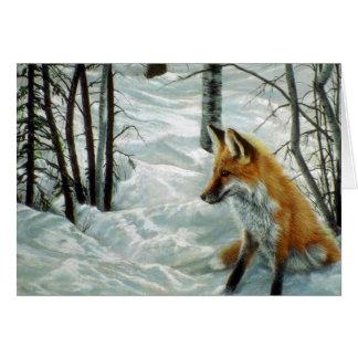 Bois d'hiver, Fox Carte De Vœux