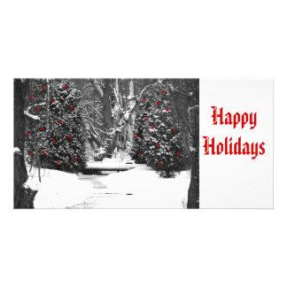 bois d'hiver noirs et blancs, *, *, *, *, *, *,… modèle pour photocarte