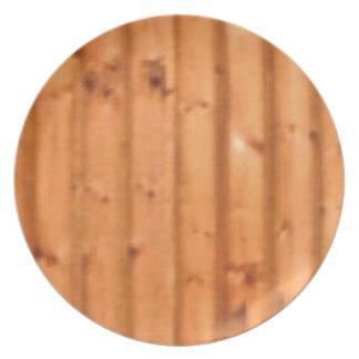 bois et défauts assiettes en mélamine