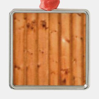 bois et défauts ornement carré argenté