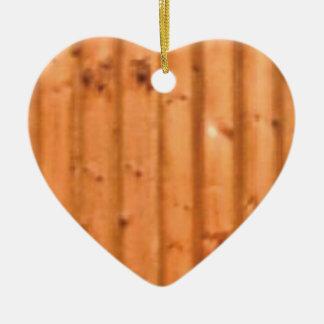 bois et défauts ornement cœur en céramique