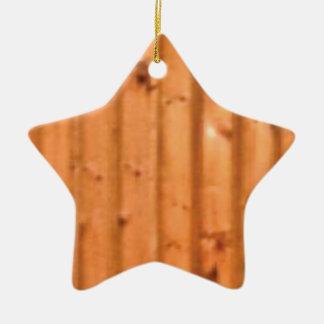 bois et défauts ornement étoile en céramique
