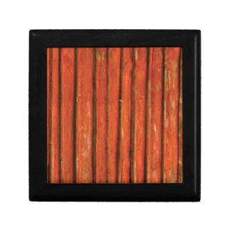 bois orange-foncé boîte à souvenirs
