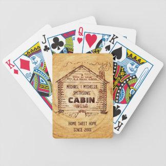 Bois personnalisé de Faux de cabine de rondin Jeu De Poker