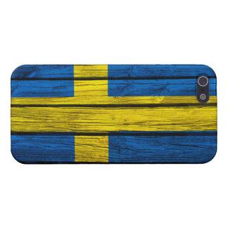 Bois rustique de drapeau suédois coque iPhone 5