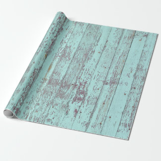 Bois rustique de grange d'Aqua Papier Cadeau