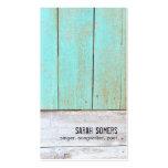 Bois rustique de turquoise de nature vintage de pa modèle de carte de visite