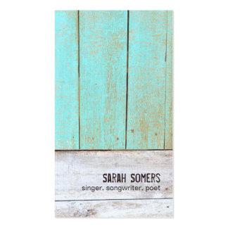 Bois rustique de turquoise de nature vintage de pa carte de visite standard