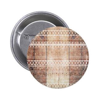 Bois tribal aztèque vintage badge rond 5 cm