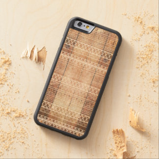 Bois tribal aztèque vintage coque iPhone 6 bumper en érable