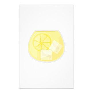 Boisson de citron motifs pour papier à lettre