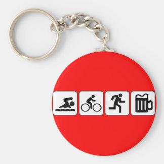 Boisson de course de vélo de bain porte-clé rond