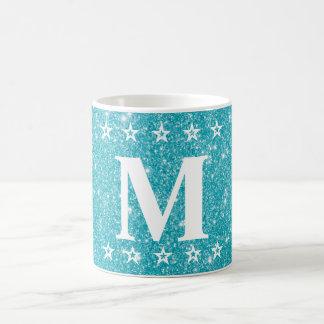 Boisson faite sur commande bleue turquoise cinq mug