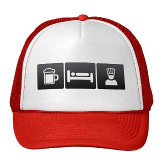 Boisson, sommeil et chefs exécutifs casquette de camionneur